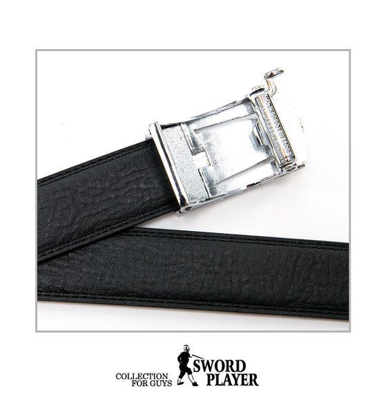 SWORD PLAYER - 莎普爾藍調款皮革式自動扣皮帶