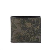 【COACH】皮革花卉短夾 (黑/灰/墨綠) F59469 M51