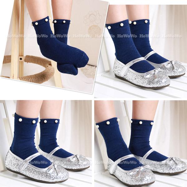 韓國小文青珍珠童襪 中筒襪 中小童襪 (0-7歲) CA1772 好娃娃