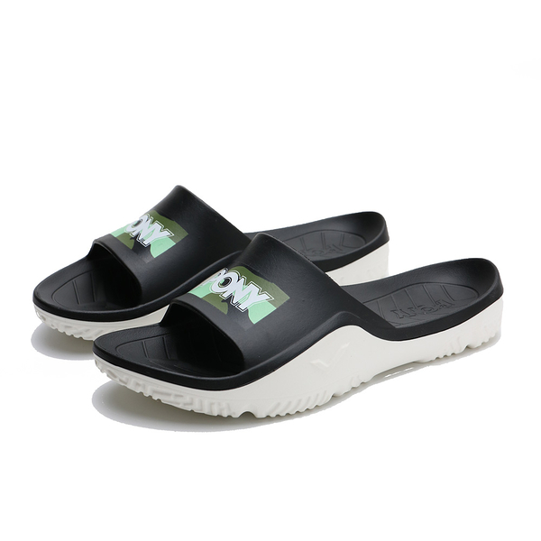 PONY 黑綠 迷彩 拖鞋 防水 膠拖 拖鞋 男女 (布魯克林) 02U1FL03GN
