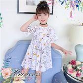 清新印花雪紡娃娃風洋裝禮服(270723)★水娃娃時尚童裝★