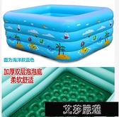 充氣游泳池 兒童充氣游泳池加厚嬰兒寶寶小孩游泳桶家用折疊超大型戶外戲水池