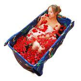 浮德堡簡易折疊浴缸成人沐浴泡澡桶家用免充氣洗澡盆加厚持久保溫igo【PINKQ】