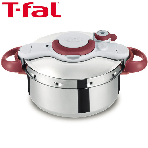 法國製 T-fal (tefal) 不锈鋼壓力鍋 4.5L 紅色把手