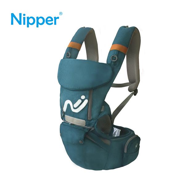 【Nipper 】多功能腰凳揹巾-湖藍綠
