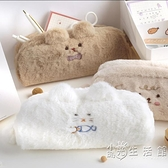 筆袋ins日系大容量小學生可愛女孩小眾男孩子收納卡通毛絨文具盒 小時光生活館