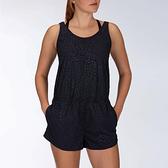 HURLEY|女 COASTAL LEOPARD ROMPER OIL GREY 連身褲