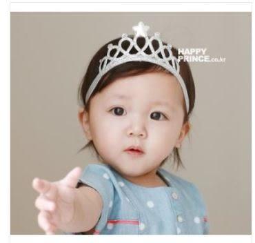 預購-超萌萌公主寶寶髮箍 百日生日拍照頭飾髮帶-皇冠