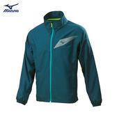 Mizuno 男裝 外套 運動 路跑 風衣 反光LOGO 藍綠【運動世界】J2TC808132