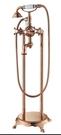 【麗室衛浴】國產 LS006 精緻玫瑰金獨立式出水立式浴缸淋浴龍頭