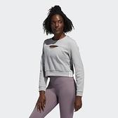 【一月大促折後$2080】L- adidas 3-STRIPES PERF SWET 灰 愛迪達 運動 休閒長T 長袖 上衣 女款 FJ7320
