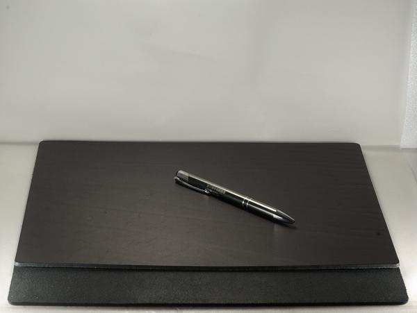 Mark Honor 義大利植鞣苯染皮墊桌墊寫字墊-黑色32公分*24公分