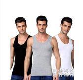 男士背心純棉運動白跨欄修身型大碼無袖t恤青年夏季打底健身IP1242『男神港灣』