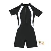 女童泳衣 兒童游泳衣中大童女童連身裙式女孩6-8-12-15歲學生專業風泳裝