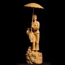 黃楊木雕美女飾品雕刻工藝品實木客廳人物擺...