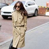 風衣大衣-新品氣質優雅女長版外套(兩件式)2色5z50[巴黎精品]