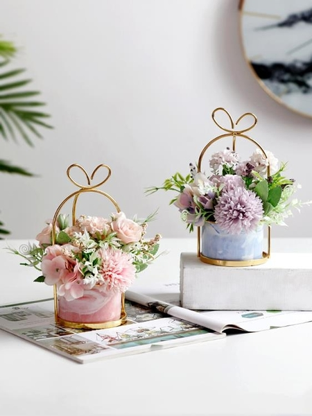 假花仿真花套家居客廳茶幾餐桌花花藝擺設
