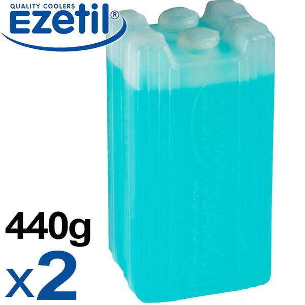 【速捷戶外露營】【德國Ezetil】883300 德國製凝膠保冷劑/冷媒/保冰劑 戶外冰磚保冰保鮮 440g(2入)