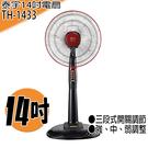 *【泰宇】14吋直立式電風扇 TH-1433*大廣角擺動 可上下俯仰調節 三段式開關調整*免運費