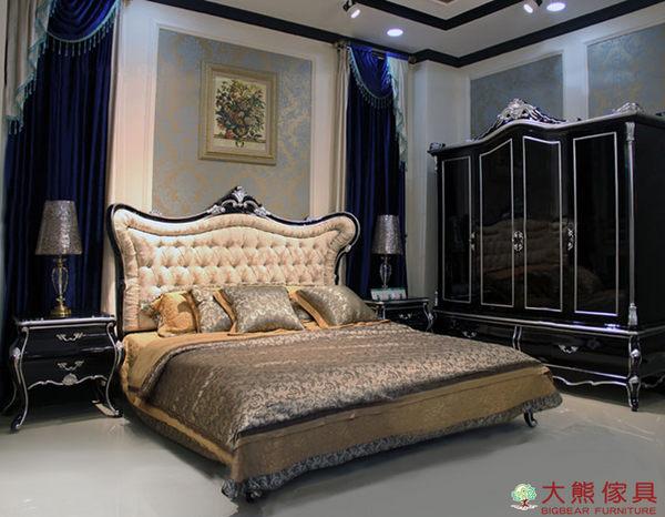 【大熊傢俱】樊迪 新古典雙人床 床台 六尺床 法式 布藝雙人床 床架 另售床頭櫃