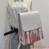 後背包書包女韓版原宿ulzzang中學生初中生學院風背包百搭大容量後背包 芊墨 新品