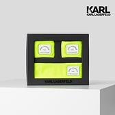 【KARL LAGERFELD】KARL地址LOGO頭帶護腕組-黃
