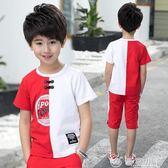 童裝男童夏裝中大童兒童運動夏季短袖 優家小鋪