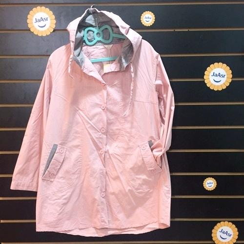 ☆棒棒糖童裝☆(26297)秋冬女裝中大碼連帽休閒風長版薄外套 F 4色