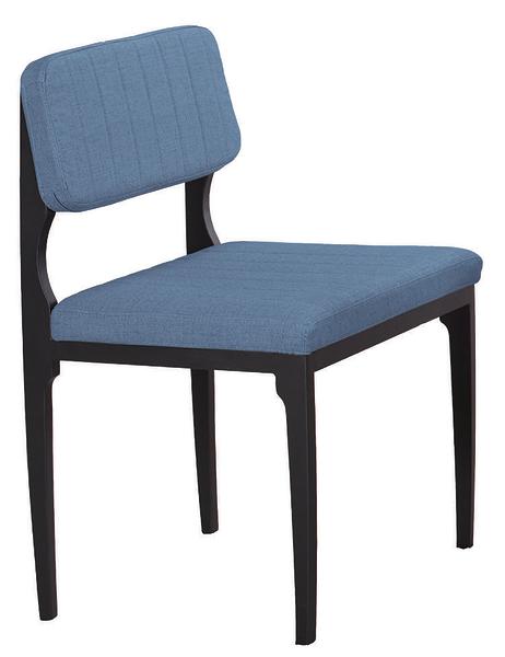 【 IS空間美學】巴哈深藍皮餐椅