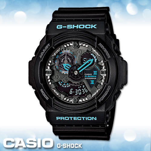 CASIO 卡西歐手錶專賣店 G-SHOCK GA-300BA-1A 男錶 雙顯 橡膠錶帶 大錶徑 黑 世界時間 碼表 計時 防水