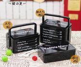 雙十二狂歡購創意日式微波爐多層手提飯盒可愛學生大號雙層便當盒塑料餐盒