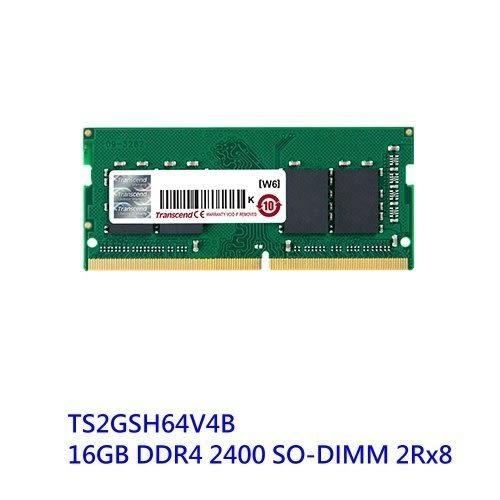 創見 筆電記憶體 【TS2GSH64V4B】 DDR4-2400 16GB SO-DIMM 新風尚潮流
