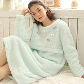 睡衣-珊瑚絨柔軟舒適加厚保暖女居家服3色73ok45[時尚巴黎]