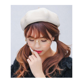 貝雷帽 英倫 麂皮絨 畫家帽 南瓜 八角 貝雷帽【QI1837】 icoca