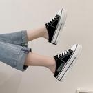 包頭半拖鞋女2020新款時尚鬆糕厚底帆布鞋百搭網紅涼拖鞋女夏外穿 智慧e家