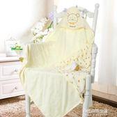 新生兒純棉抱被嬰兒包被抱毯雙層薄款寶寶襁褓包巾嬰幼兒浴巾  朵拉朵衣櫥