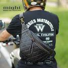 好評再一波 廣告價活動 might 菱格紋鑽石縫線 肩包 腰包 哈雷 凱旋 小牛皮風格 手工 PU皮革 MTW50689