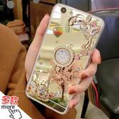 三星 S10+ S10e S10 S9 S9 Plus S8 Plus 電鍍蝴蝶花水鑽殼 鏡面 軟殼 水鑽殼