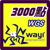 華義國際 WGS卡3000點 點數卡 - 可刷卡【嘉炫電腦JustHsuan】