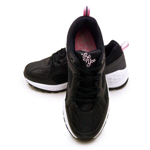 LIKA夢 ARNOR 輕量時尚復古厚底運動鞋 BE YOU系列 黑粉 92080 女