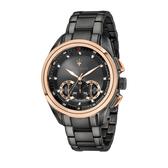 MASERATI 瑪莎拉蒂 經典設計款三眼計時腕錶45mm(R8873612016)