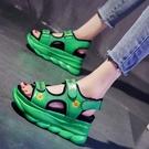 增高涼鞋 厚底涼鞋女夏季新款增高厚底楔形百搭羅馬運動涼鞋女-Ballet朵朵