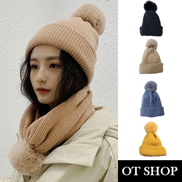[有影片][現貨] 毛帽圍脖兩用帽子 針織毛帽 保暖圍脖 文青時尚 保暖配件 C2063
