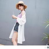 《EA2304》透膚感滿版蕾絲立體雕花長版罩衫/外套 OrangeBear