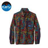 【西雅圖 KAVU】Teannaway 保暖刷毛半開襟上衣 霓虹氣氛 #5065