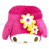 【KP】美樂蒂桃紅色花花暖腳枕 三麗鷗  保暖枕 墊腳墊 正版授權 日本進口 1808215200500
