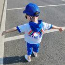 男童夏裝2018新款套裝連帽韓版運動夏季童裝兒童短袖純棉兩件套潮   夢曼森居家