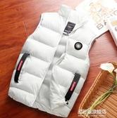 保暖馬甲外套男-羽絨棉衣男冬季新款韓版修身立領坎肩背心馬甲棉服潮馬夾外套 多麗絲
