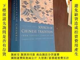 二手書博民逛書店英文原版罕見Sources of Chinese Tradition SCEOND EDITION VOLUME