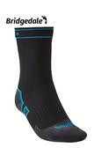 Bridgedale 英國 氣象家 全天候防水中厚襪-中 黑/藍 710 087 登山襪 健行襪 防水襪 [易遨遊]